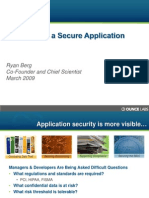 Path to a Secure Application