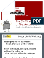 The 5 Percent Rules of Test Automation