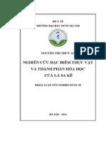 Nghiên cứu đặc điểm thực vật và thành phần hóa học của lá Sa kê.pdf