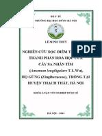 Nghiên cứu đặc điểm thực vật, thành phần hóa học của cây sa nhân tím ( Amomum longiligulare T.L Wu) họ Gừng ( Zinggiberaceae) trồng tại huyện Thạch Thất, Hà Nôij.pdf
