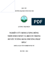 Nghiên cứu định lượng đồng thời Strychnin và Brucin trong huyết tương bằng phương pháp HPLC.pdf