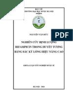Nghiên cứu định lượng Rifampicin trong huyết tương bằng sắc ký lỏng hiệu năng cao.pdf