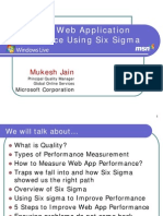 Web Application Performance Using Six Sigma