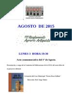 Programa Agosto 2015