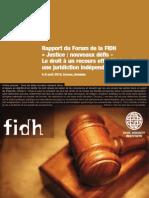 Rapport du Forum de la FIDH