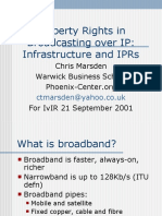 Property Rights in Broadcasting over Internet Protocol