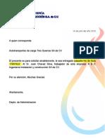 Carta Paqueteria