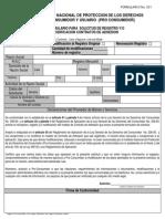 Formulario de Registro Contratos de Adhesión