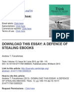 Forcehimes, Andrew - Download This Essay - A Defence of Stealing eBooks