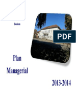 Plan Managerial an Scolar 2013-2014
