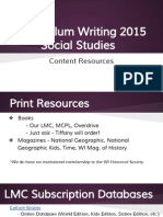 powerpoint for social studies curriculum lmc resources 2015