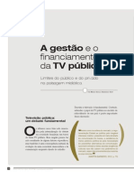A Gestão e o Financiamento Da TV Pública