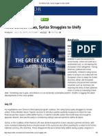 Amid Bailout Talks, Syriza Struggles to Unify _ Stratfor