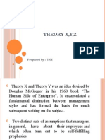 Theory x,y
