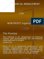 Basic Financial Management for Non-profit Orgs