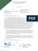NASA-AF letter on SpaceX explosion