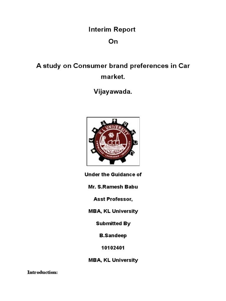 Consumer behaviour master thesis