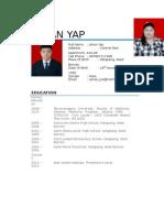 Johan Yap CV