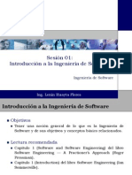 Sesión 01 Introducción a Ingeniería de Software