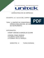 Matriz de consistencia servio en el Hospital regional de Pucallpa