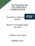 Estudio Teológico Del Espíritu Santo en El Evangelio de Juan