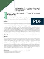 Efecto de La Recurrencia de Incendios Forestales