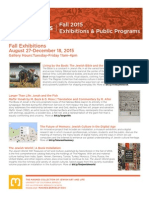 Fall 2015 Programs and Exhibits