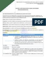 Metodología para describir procedimientos