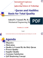 The Holy Quran and Hadiths Basis for Total Quality