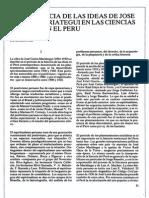La Influencia de Las Ideas de Jose Carlos Mariategui en Las Ciencias Sociales en El Peru