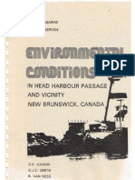 Environmental conditions in Head Harbour Passage and Vicinity, New Brunswick, Canada