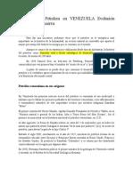La Industria Petrolera en Vrenezuela