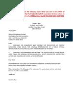 Rasmussen Complaint Disbarment/Prosecution to WASHINGTON STATE BAR ASSOCIATION