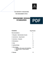 Architectural Standard - University of Melbourne - Ergonomic Design Standards