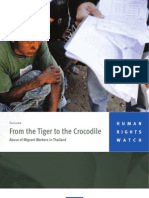 Abuse of Migrant Workers in Thailand-From the Tiger to the Crocodile
