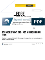 SSi Micro Wins Big $35 Million From Feds
