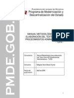 Manual Para Elaborar ElTUPA-PCM