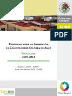Sp Procalsol Avances 2007 2009 y Plan Operativo 2009 2010