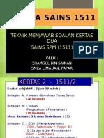 Teknik Menjawab Soalan Sains SPM 1511 Kertas 2 2015