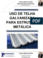 Uso de Telha Galvanizada para Estrutura Metálica