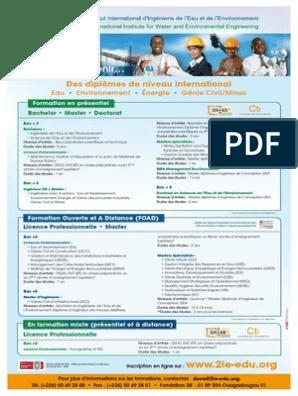 2ie Offre De Formation 2012 Ingénieur Formation à Distance