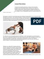 DFA Entrenador Personal Barcelona