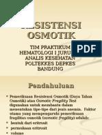 RESISTENSI OSMOTIK