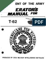 Russian T-62 Medium Tank - Operators Manual