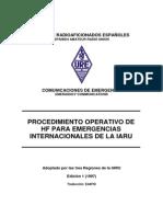 Procedimiento IARU Emergencias HF