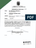 proyecto ley mala practica medica (ley gabriela pazmiño)