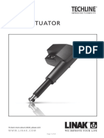 Techline La35 Actuator User Manual Eng