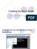 Creating the Block Model