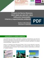 Proyecto Norma Mexicana Nmx-Aa-164-2012 Edificacion Sustentable Extracto