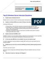 Top 22 Windows Server Interview Questions